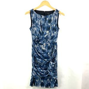 ANN TAYLOR Sleeveless Boatneck Dress Ruched Draped